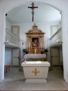 Altar in der Burgkapelle